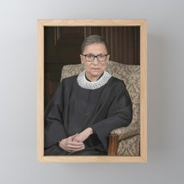 Ruth Bader Ginsburg Portrait Framed Mini Art Print