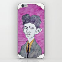 kafka iPhone & iPod Skins featuring Kafka by Dandy