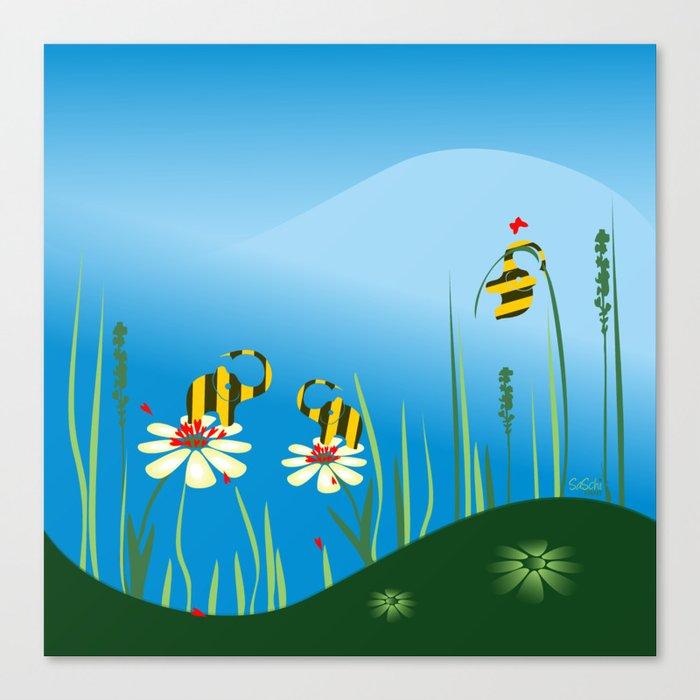 Bumblebees Canvas Print