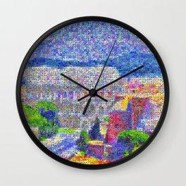 Rome Colloseum in Bloom Wall Clock