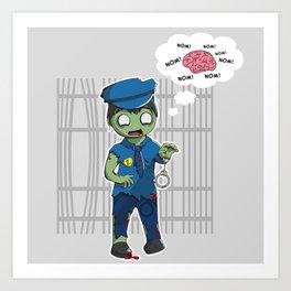 Zombie Police Art Print