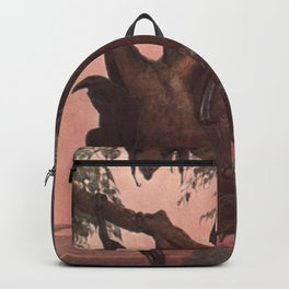 Vintage Bat Painting (1909) Backpack