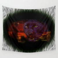 egypt Wall Tapestries featuring Egypt Goddess Bastet by Lucia