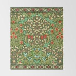 Green Garden Throw Blanket