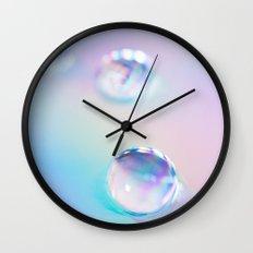 droplets*blue Wall Clock