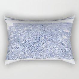 Atlanta Map - Atlanta City Skyline Rectangular Pillow