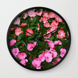 New Guinea Impatiens Wall Clock