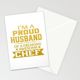 I'M A PROUD CHEF'S HUSBAND Stationery Cards