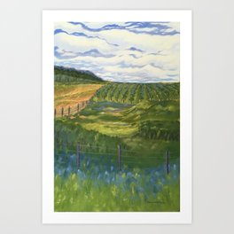 Summer Day on Dry Hill Art Print