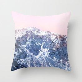 Rose Quarz and Serenity Mountains Throw Pillow