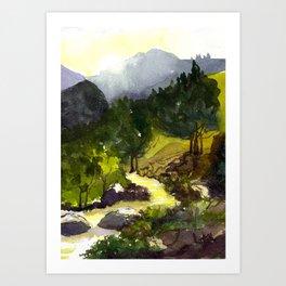 Golden afternoon Art Print