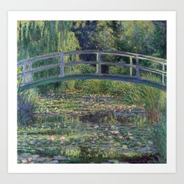 Water Lilies and the Japanese Bridge by Claude Monet Art Print