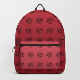 Red London Map Pattern Backpack