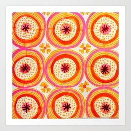 Happy Circles Art Print