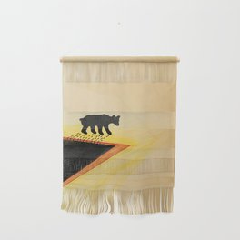 White Bear After Black gold Bath   Wall Hanging