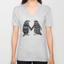 Penguin Couple Unisex V-Neck