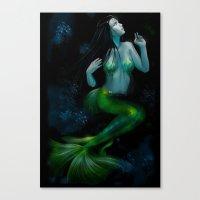 siren Canvas Prints featuring Siren by Ilaria De Rosa
