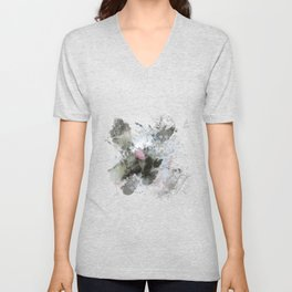 Painted thistle on textured background Unisex V-Neck