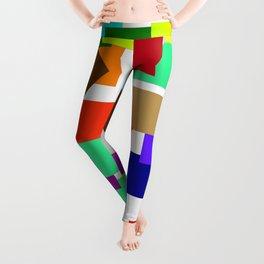 einfach farbig   (A7 B0054) Leggings