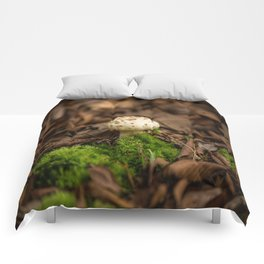 From Little Things - Perfect Mushroom in Fallen Leaves Comforters