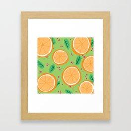 Orange You Cute Framed Art Print