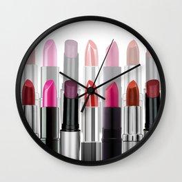 Lipstick Tubes Makeup Make Up Cosmetics Wall Clock