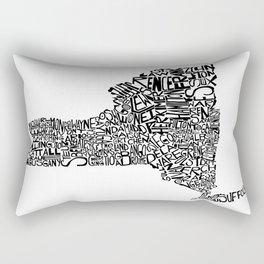 Typographic New York Rectangular Pillow