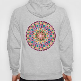 Multicolored fractal mandala Hoody