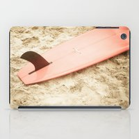 surfboard iPad Cases featuring Red Surfboard by Allen G.
