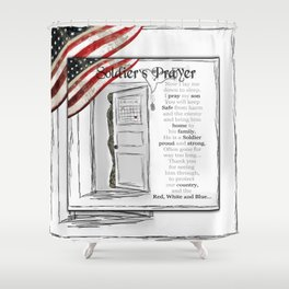 Soldier's Prayer ~ Ginkelmier Shower Curtain