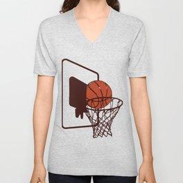 Basket Ball Basketball Hits Game Team Gift Unisex V-Neck
