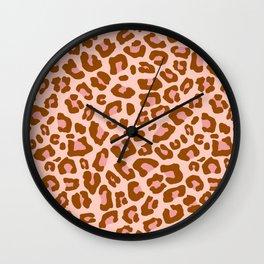Leopard Print 2.0 - Caramel Blush Wall Clock