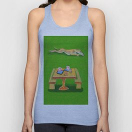 Greyhound Spirit, an Animal Spirit painting Unisex Tank Top