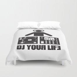DJ your life Duvet Cover