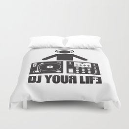 DJ your life Duvet Cover