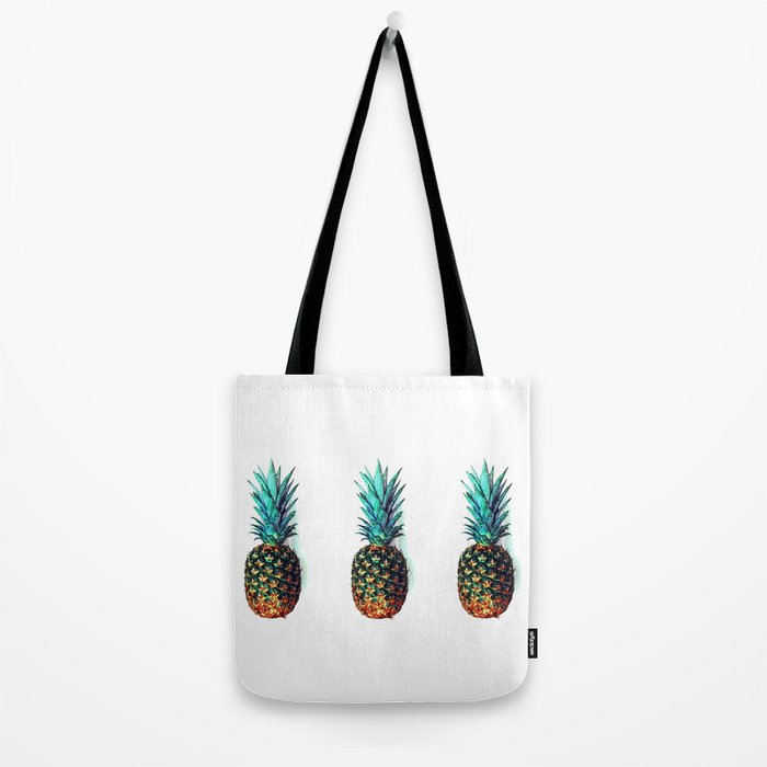 tri soldier pineapples Tote Bag