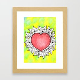 Watercolor Doodle Art | Heart Framed Art Print