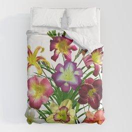 Celebration of daylilies I, Hemerocallis flowers Comforters