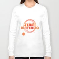 nintendo Long Sleeve T-shirts featuring Team Nintendo by Bradley Bailey