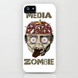 Media Zombie iPhone Case