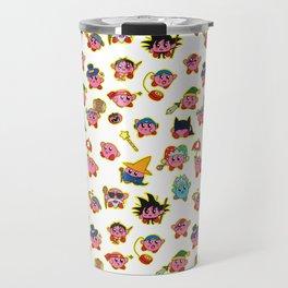 Kirby is swallowing everyone in here. Travel Mug