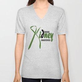 Kidney Disease Awareness Unisex V-Neck