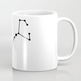 Scorpio Star Sign Black & White Coffee Mug