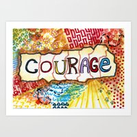 klaine Art Prints featuring Courage by Ines92