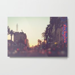 Hollywood Boulevard Sunset Metal Print