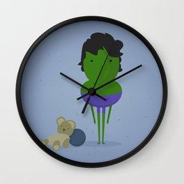 Hulk: My angry hero! Wall Clock