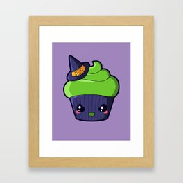 Spooky Cupcake - Wicked Witch Framed Art Print