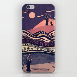 Psychedelic mountains (colour option) iPhone Skin