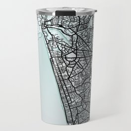 Colombo, Sri Lanka, White, City, Map Travel Mug