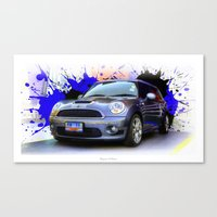 mini cooper Canvas Prints featuring Mini Cooper S by Urbex :: Siam